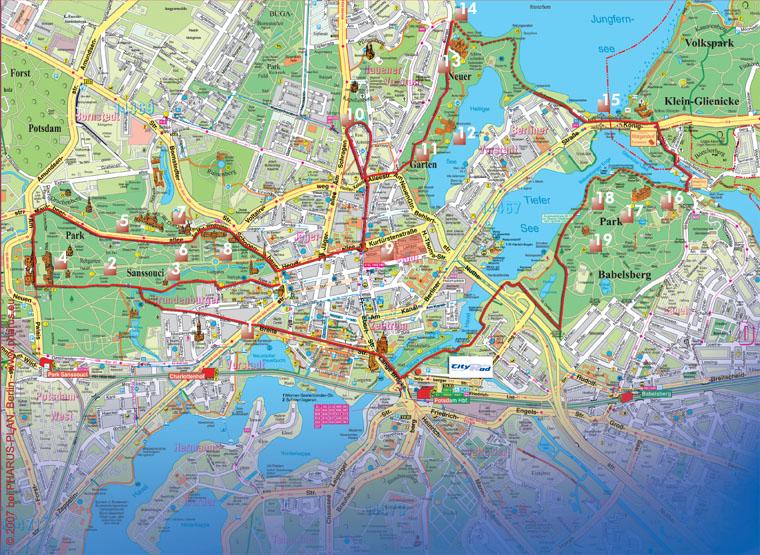 Karte von Potsdam